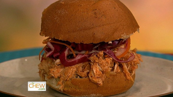 The Chew - Daphnes Lightened-Up BBQ Sandwich
