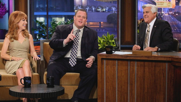 The Tonight Show with Jay Leno - Billy Gardells Son Threatens Him With TMZ